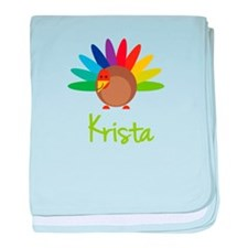 Krista the Turkey baby blanket