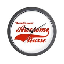 World's Most Awesome Nurse Wall Clock