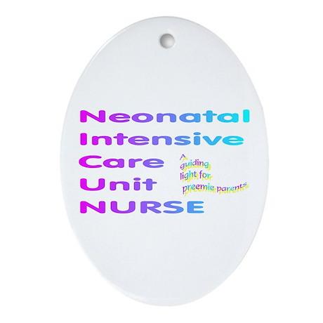 NICU nurse Oval Ornament