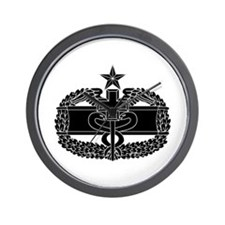 Combat Medical Badge 2nd Award B-W Wall Clock