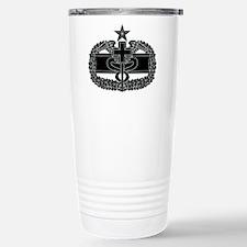 Combat Medical Badge 2nd Award B-W Travel Mug