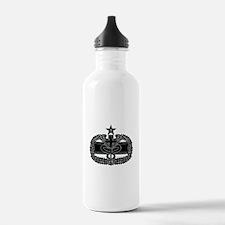 Combat Medical Badge 2nd Award B-W Water Bottle