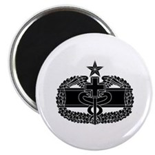 Combat Medical Badge 2nd Award B-W Magnet