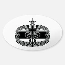 Combat Medical Badge 2nd Award B-W Sticker (Oval)
