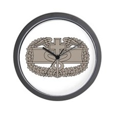 Combat Medical Badge Wall Clock