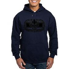 Combat Medical Badge B-W Hoodie
