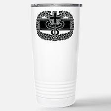 Combat Medical Badge B-W Travel Mug