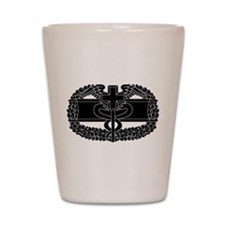 Combat Medical Badge B-W Shot Glass