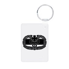 Combat Medical Badge B-W Keychains