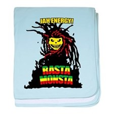 Rasta Monsta baby blanket