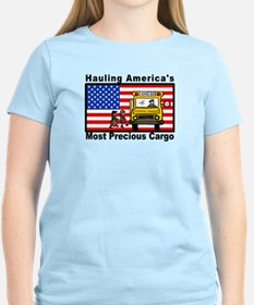 School Bus Precious Cargo Women's Pink T-Shirt