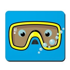 Yellow Goggles Mousepad