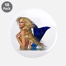 """The Mermaid 3.5"""" Button (10 pack)"""