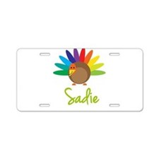Sadie the Turkey Aluminum License Plate