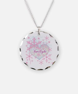 Twilight Pink Snowflakes by Twibaby Necklace
