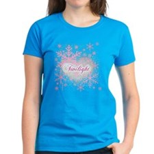 Twilight Pink Snowflakes by Twibaby Tee