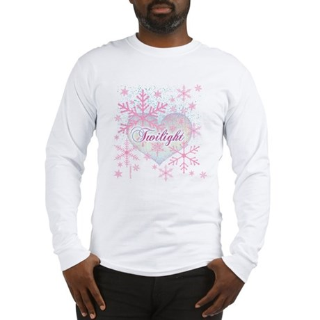 Twilight Pink Snowflakes by Twibaby Long Sleeve T-