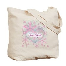 Twilight Pink Snowflakes by Twibaby Tote Bag