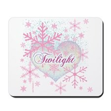 Twilight Pink Snowflakes by Twibaby Mousepad