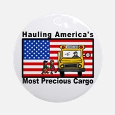 School Bus Precious Cargo Ornament (Round)