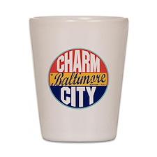Baltimore Vintage Label Shot Glass