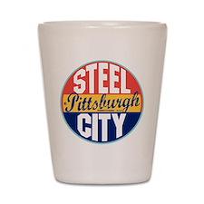 Pittsburgh Vintage Label Shot Glass