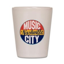 Nashville Vintage Label Shot Glass
