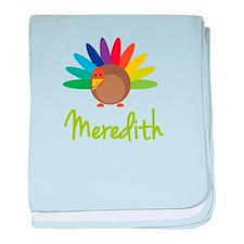 Meredith the Turkey baby blanket