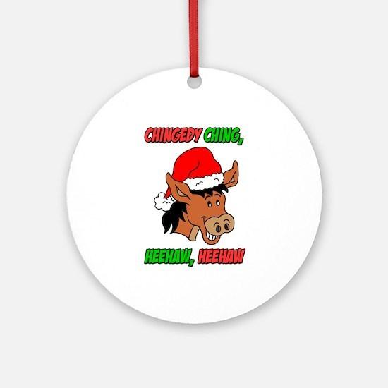 Italian Christmas Donkey Ornament (Round)