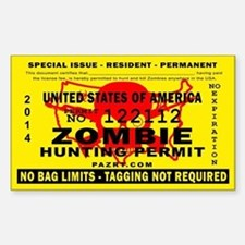 US Zombie Hunting Permit