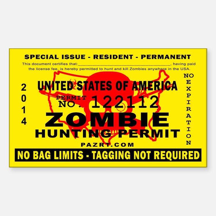 US Zombie Hunting Permit