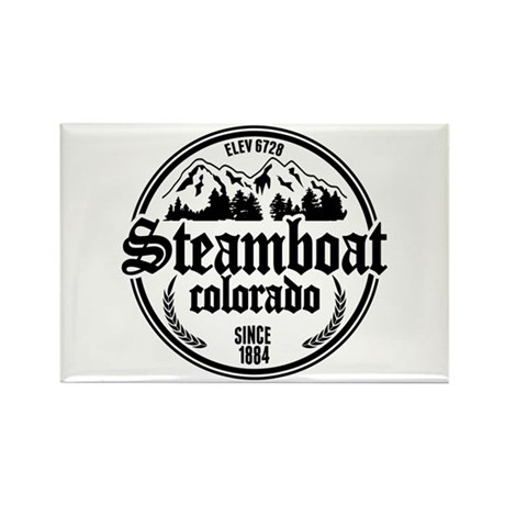 Steamboat Old Circle Rectangle Magnet