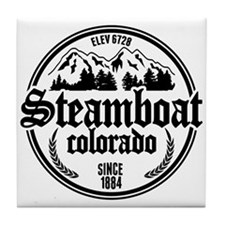 Steamboat Old Circle Tile Coaster