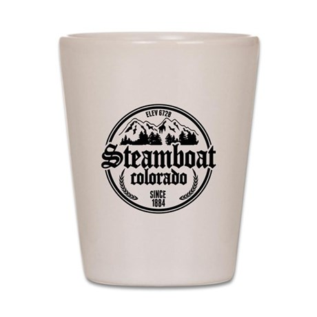 Steamboat Old Circle Shot Glass