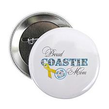 "Proud Coastie Mom 2.25"" Button (100 pack)"