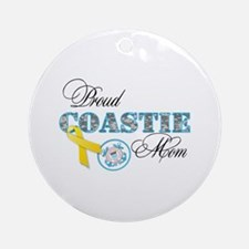 Proud Coastie Mom Ornament (Round)