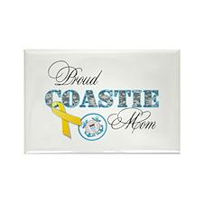 Proud Coastie Mom Rectangle Magnet