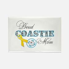 Proud Coastie Mom Rectangle Magnet (10 pack)