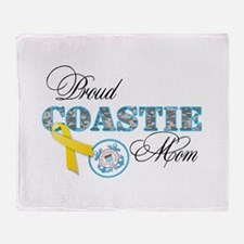 Proud Coastie Mom Throw Blanket