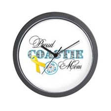 Proud Coastie Mom Wall Clock