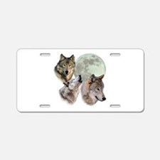 3 Wolf Moon Aluminum License Plate