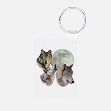 3 Wolf Moon Aluminum Photo Keychain