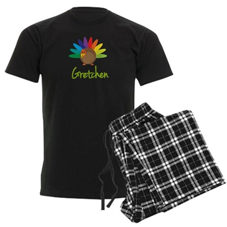 Gretchen the Turkey Men's Dark Pajamas