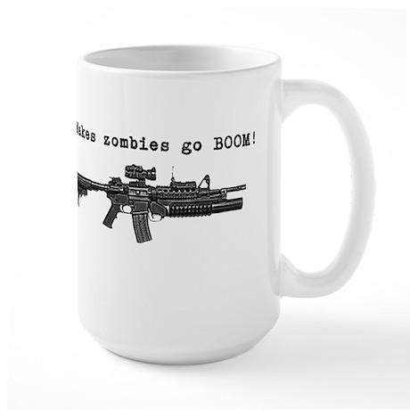 Make zombies go BOOM! Large Mug