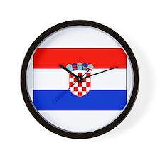 Croatian National Flag Wall Clock