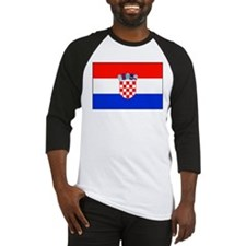 Croatian National Flag Baseball Jersey