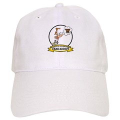 WORLDS GREATEST CAKE ADDICT FEMALE Baseball Cap