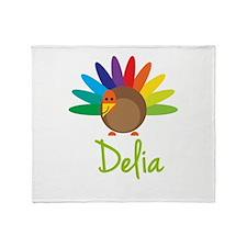 Delia the Turkey Throw Blanket