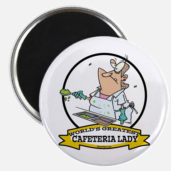 "WORLDS GREATEST CAFETERIA LADY 2.25"" Magnet (10 pa"