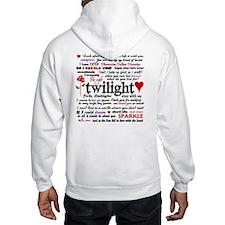 Twilight Quotes Hoodie Sweatshirt